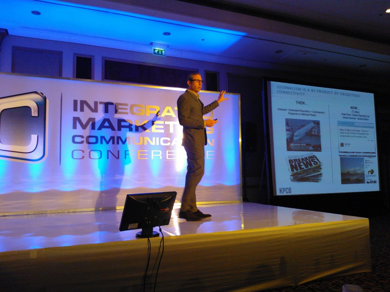 Joshua Ross presenting at the Intergrated Marketing Communications Conference
