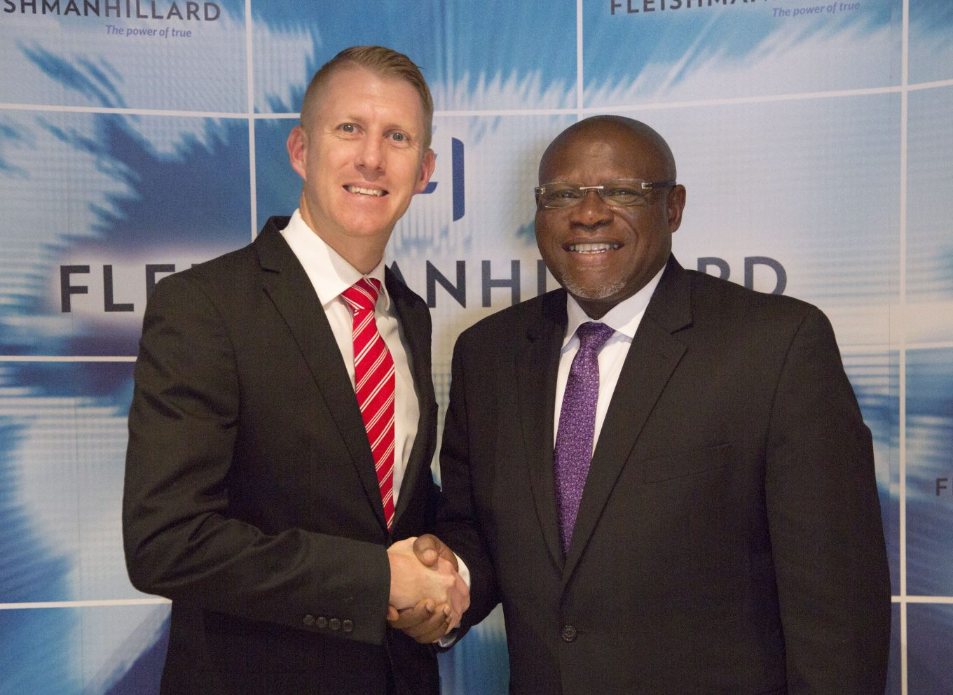 Kevin Welman, Managing Director of FleishmanHillard (left) John Ehiguese, CEO of Mediacraft (Right)